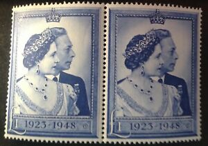 GB 1948 RSW Pair Of £1.00 Stamps mint mnh