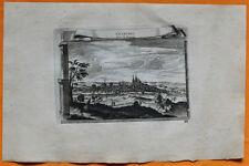 VAN DER AA Gravure originale c1725 VUE DE CHARTRES Beauce Eure-et-Loir