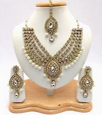 Indian Asian Bridal Jewellery Asian Wedding Handmade Bollywood Necklace Set