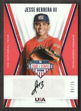 2019 USA Baseball Stars & Stripes 16U Auto Black Ink #JH Jesse Herrera III 08/25