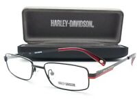 NEW Harley Davidson RX Optical Eyeglasses HD 120 48mm Black with Red AUTHENTIC