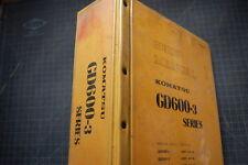 KOMATSU GD600 GD650 GD605 GD655 GRADER Repair Service Manual Book overhaul 1984