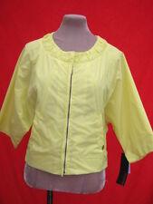 RRP £389 1980s look CK Calvin Klein Yellow Lemon bat wing shell Spring jacket M
