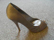 Barratts pleated detail peep toe high heeled shoes - Size 5