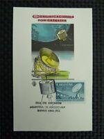 ARGENTINA MK RADIOTELESCOPE SATELLITE SPACE MAXIMUMKARTE MAXIMUM CARD MC c1876