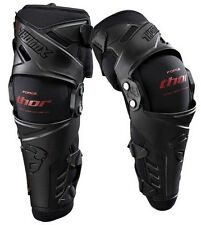 Thor Force Knee Guards Braces Small / Medium Pair Set Black Red NEW
