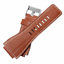 24mm Brown Leather Watch Strap band Compatible With Bell&Ross BR-01,BR-03,BR-02
