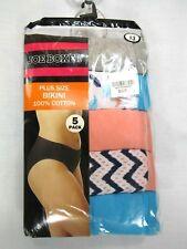 a0b2652e235 New Joe Boxer 5 Pack Women s Panties Plus Size Bikini Prints Size 13 Cotton