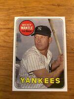1969 Topps MICKEY MANTLE #500 White Letter New York Yankees Reprint MINT HOF