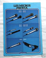Publicité Pub Hifi Micro Phonia audio an. 80