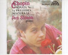 CD JAN SIMONchopin  SONATA NO 2EX+ / WOC (B2071)
