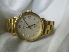 Marc Goldtone Watch, Link Metal Band, by Marc Jacobs, WORKING!
