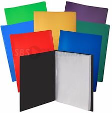 A4 Display Book / Presentation Folder 10/20/30/40/50/60/70/80/100 Pockets