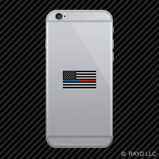 Red / Blue Line Subdued American FlagSticker Law Police Cell Phone Sticker