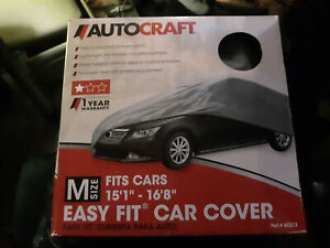 """Autocraft Car Cover AC213 Size Medium M Fits Cars up to 16'8"""" All Makes"""