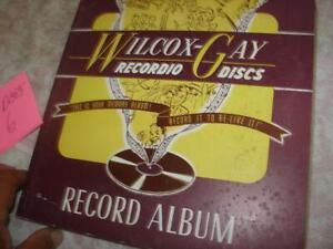 Wilcox Gay album of 6 blank Recordio discs