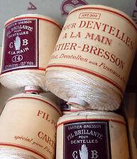 Mercerie ancienne, lot de fil pour dentelles à la main filet, fuseaux, Venise.