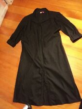 *  table eight black dress button front elastic back