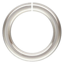 50pc, 6mm 20 gauge Open Jump Rings. Sterling Silver .925 High Polished Open Ring