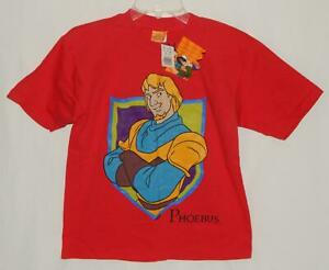 """New DISNEY The Hunchback of Notre Dame """"Phoebus"""" Red S/S Graphic T-Shirt Boys M"""