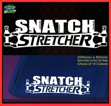 Funny 4x4 Stickers SNATCH STRETCHER for 4wd Ute Wagon Winch Bullbar 200mm