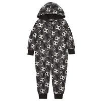 Football Boy's Warm Hooded Fleece Jumpsuit All in One Pyjamas Onezee Allinone
