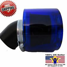 60mm Air Filter Cleaner Honda Kawasaki Yamaha Suzuki Splash Proof + Cover