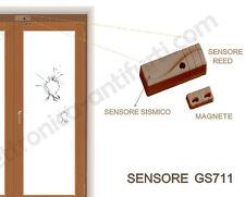 GS711 - Sensore di urto vibrazione con stato Porta Finestre per centrali Bentel