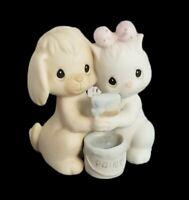 Precious Moments Figurine Cat Dog Painting True Blue Friends Best Pair Couple