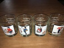 Mg21 Norman Rockwell 1979 Pepsi Glass Winter Scenes 4� Set Of 4 Arby's collector
