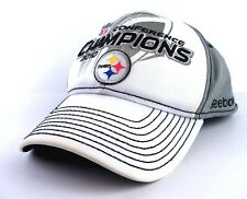 2010 PITTSBURGH STEELERS CONFERENCE CHAMPIONS CAP / HAT - REEBOK