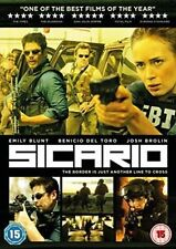 Sicario DVD R2 PAL Emily Blunt Josh Brolin 2016 Watched Once