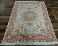 Finest 60 Raj Silk & Wool Handmade 5'X7' Authentic  Oriental area rug