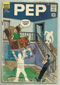 Pep #158 Archie Comics 1962 Ghosts in Haunted House Cover