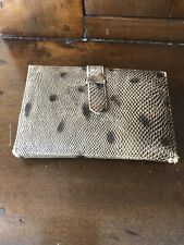 Vintage Leather Needle Book With Golden Eye Needles
