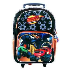 """Blaze and the Monster Machines 16"""" Canvas Rolling Backpack School Backpack Bag"""