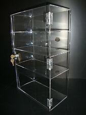 "Acrylic Show Case 12"" x 6"" x 19"" Locking Security Countertop display"