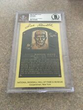 JOE SEWELL SIGNED YELLOW HOF PLAQUE AUTO AUTOGRAPH BGS BAS AUTHENTIC INDIANS