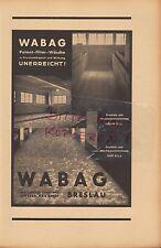 Wroclaw, Pubblicità 1942, Wabag brevetti FILTRO-Biancheria Rydergård MAX Reder