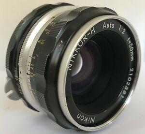 Vintage Nikon Nikkor-H Auto Lens f2, 50mm, Nikon F, nice condition