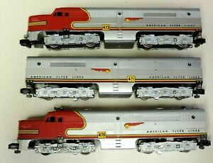 RARE 2 VINTAGE  AMERICAN FLYER LINES CHIEF LOCOMOTIVES 470 473 POWER CAR 471 #2