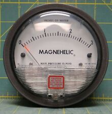 """Dwyer Magnehelic 4"""" Differential Pressure Gauge 0-3 Inches Of Water Model: 2003"""