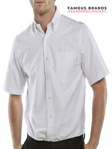 EX Store Men Short Half Sleeve 2 PACK Shirt Work Wear Office Formal Dress School