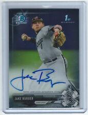 2017 Bowman Chrome Draft Jake Burger Base Auto 1st Autograph Chicago White Sox