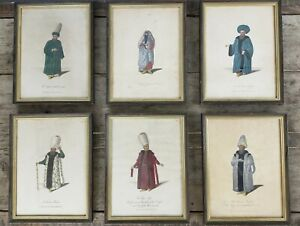 Six Hand Coloured Engravings from William Wittmans 'Travels in Turkey...(1803)'