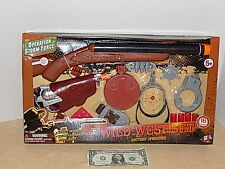 Boys Girls Kids Wild West Western Cowboy Accessories Toy Set Role Play Saloon