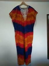 Embroidered Hippy Ethnic Maxi Dress Smock Plus Size Size UK 18 20 22