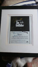 GODFATHER POSTER (Hand signed by Al Pacino, James Caan and others), Framed, COA