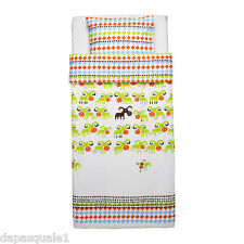 IKEA KOSSAN - Duvet Cover and Pillowcase Twin Green Multicolor