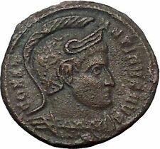 CONSTANTINE I the GREAT in HELMET with CAPTIVES 320AD Ancient Roman Coin i54445